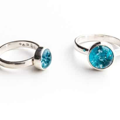 Memorial Glass Straight Band Memorial Rings Memorial Jewellery ashes into glass